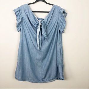 Umgee | Denim Knot Front Dress